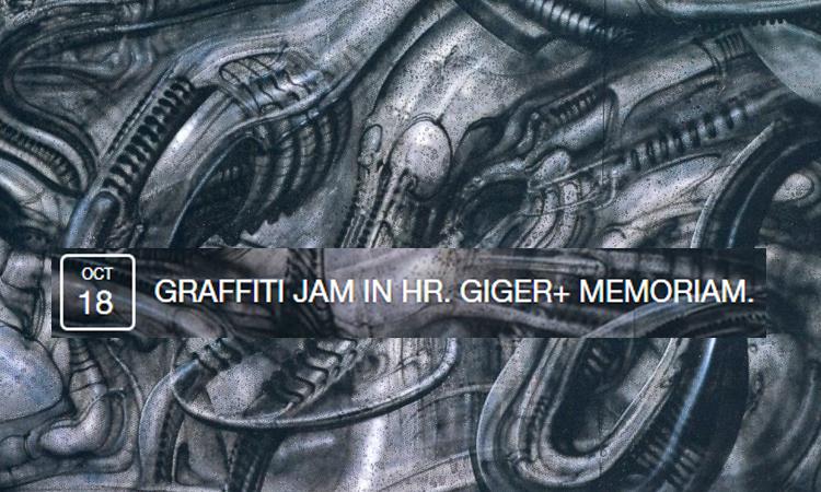 Graffiti jam in H.R. Giger ✙ Memoriam digerible
