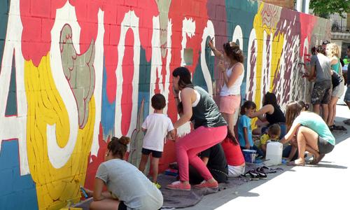 boamistura en Barcelona, Arte urbano, digerible