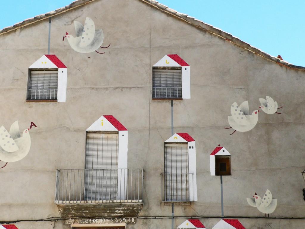 Ana Pez, arte urbano Fanzara, Valencia, Digerible