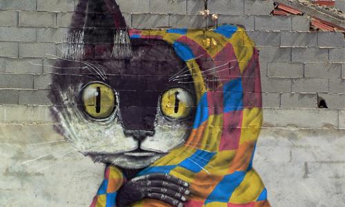 Thiago Goms, arte urbano Fanzara, Valencia, Digerible