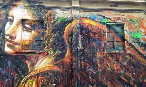 Sav45, arte urbano Barcelona