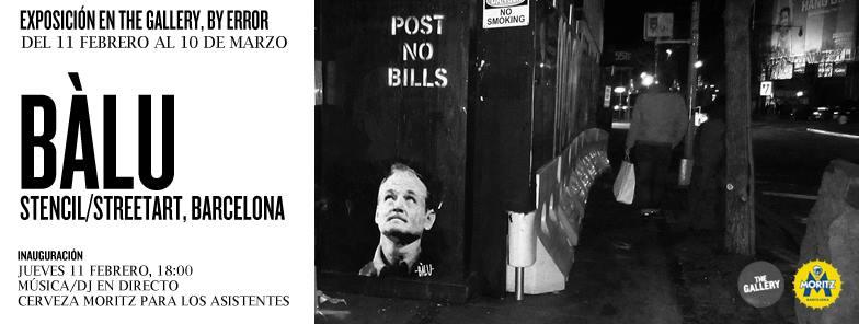 Bàlu Stencil street art, Barcelona