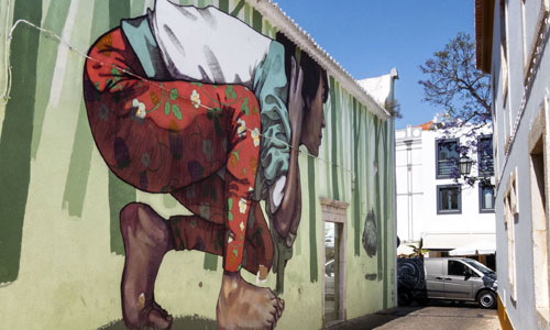 Etam Cru, arte urbano en Lagos Portugal