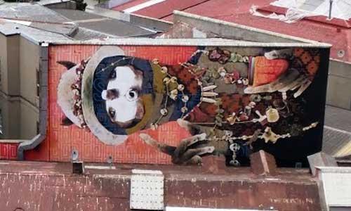 INTI arte urbano en Valparaíso Chile