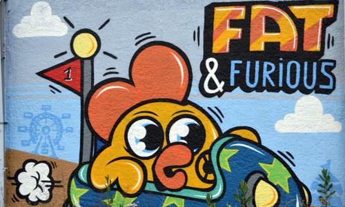 Monsieur Poulet arte urbano en Bordeaux