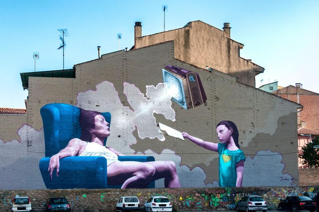 Miles Élah arte urbano en Vic
