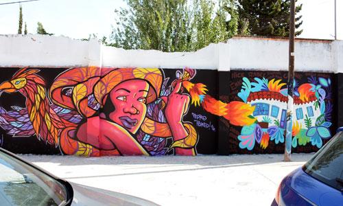 Paula Plim & Pedro Shalders Porto arte urbano en Barcelona
