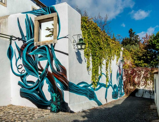 Pantónio arte urbano desde Portugal