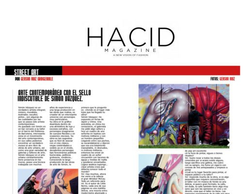 Arte urbano en hacid magazine, Barcelona