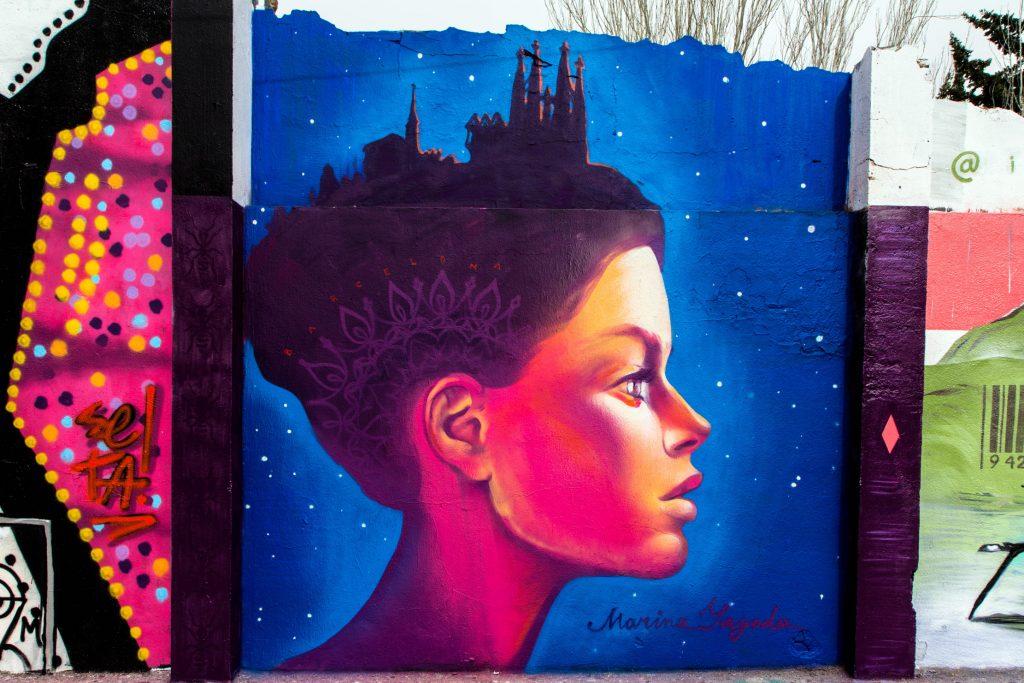 Marina Yagoda e Ivan Yagoda arte urbano en Barcelona