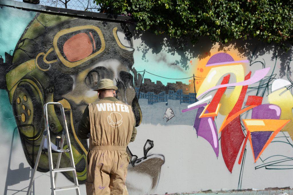 Rulo Lopez & Stefano Phen arte urbano en Barcelona,