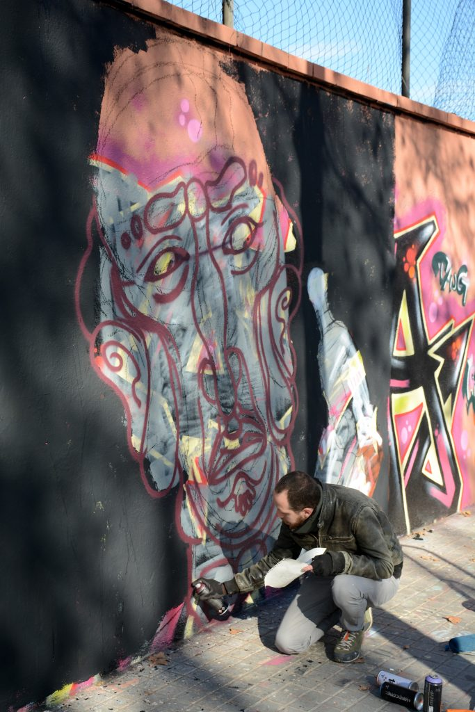 Mr. Ovni & Simón Vázquez arte urbano en Barcelona
