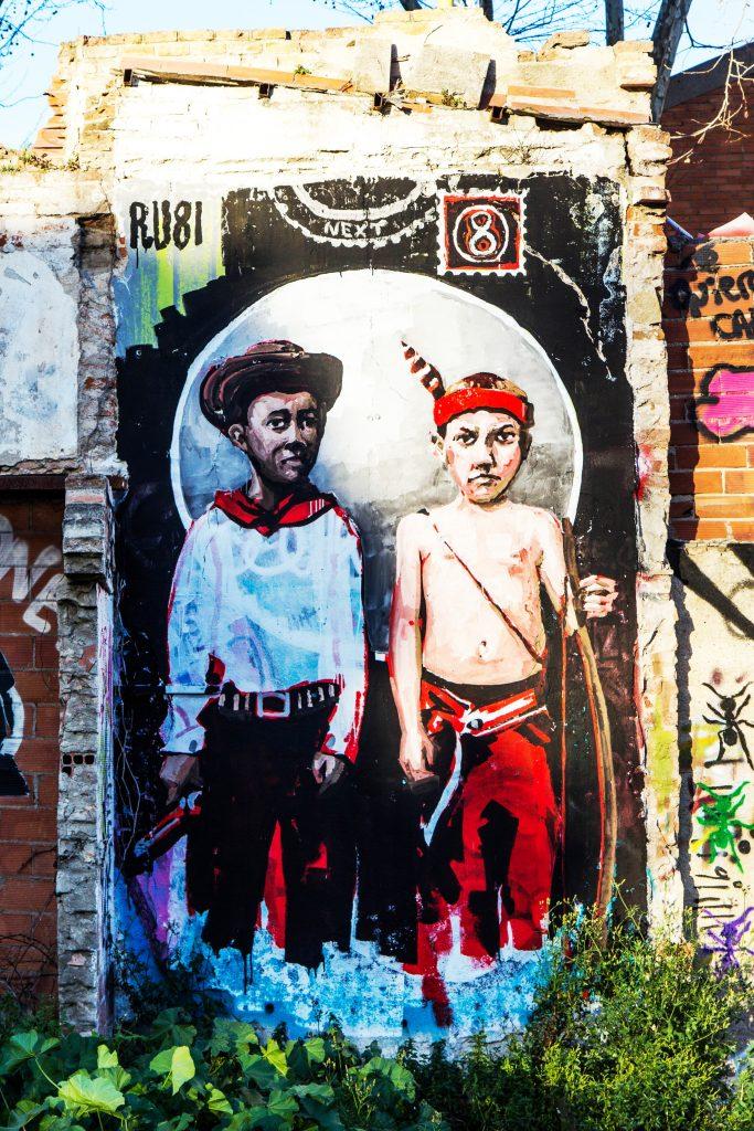 Arte urbano Ru8icon1, Barcelona
