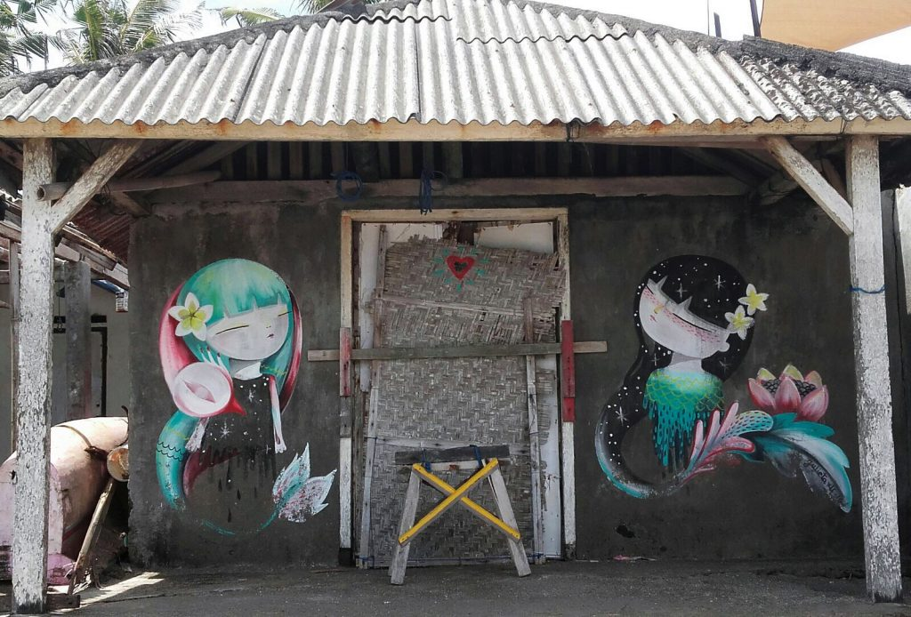 Julieta xlf arte urbano en Indonesia