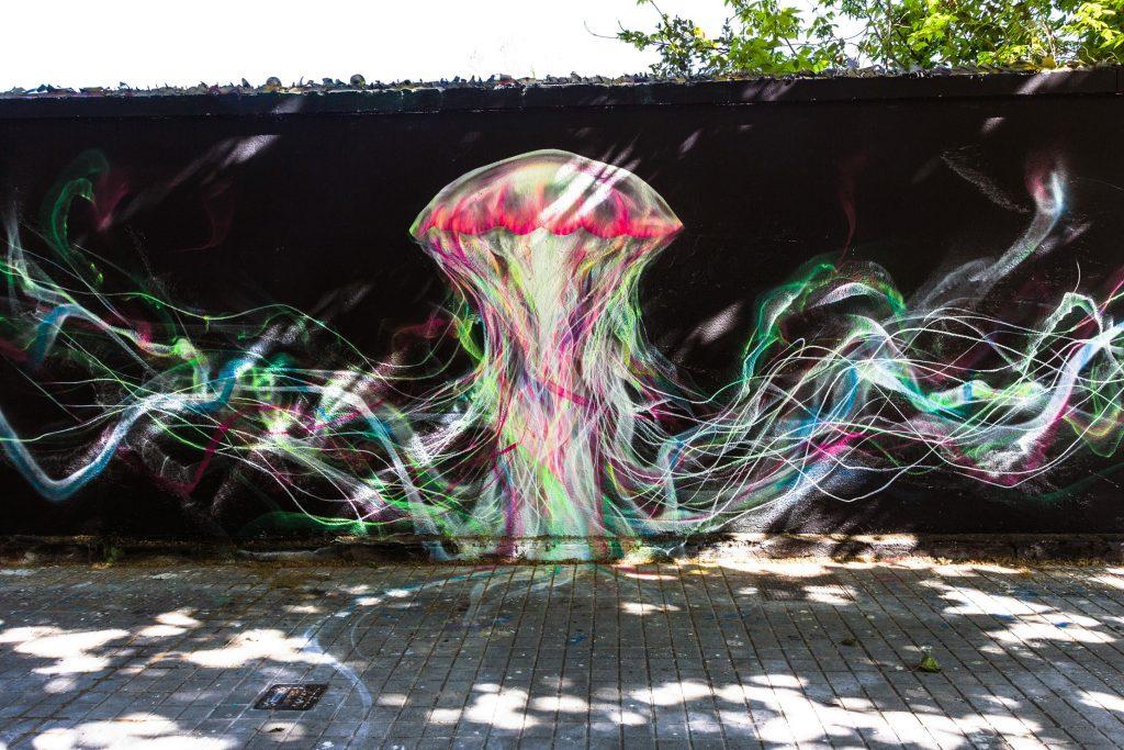 LM7 arte urbano en Barcelona