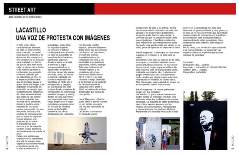 LaCastillo arte urbano en Barcelona