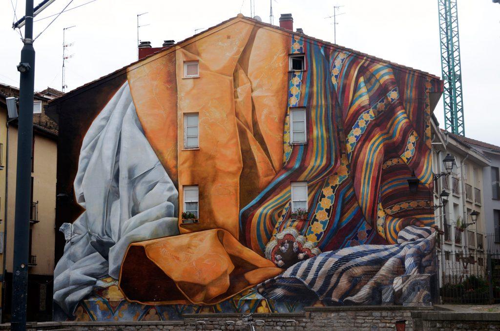 Arte urbano de Verónica y Christina Werckmeister en Vitoria