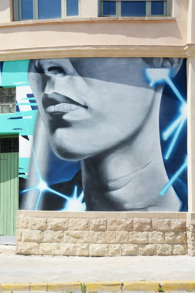 arte urbano Lolo Elemak y Yena Graffiti , Igualada