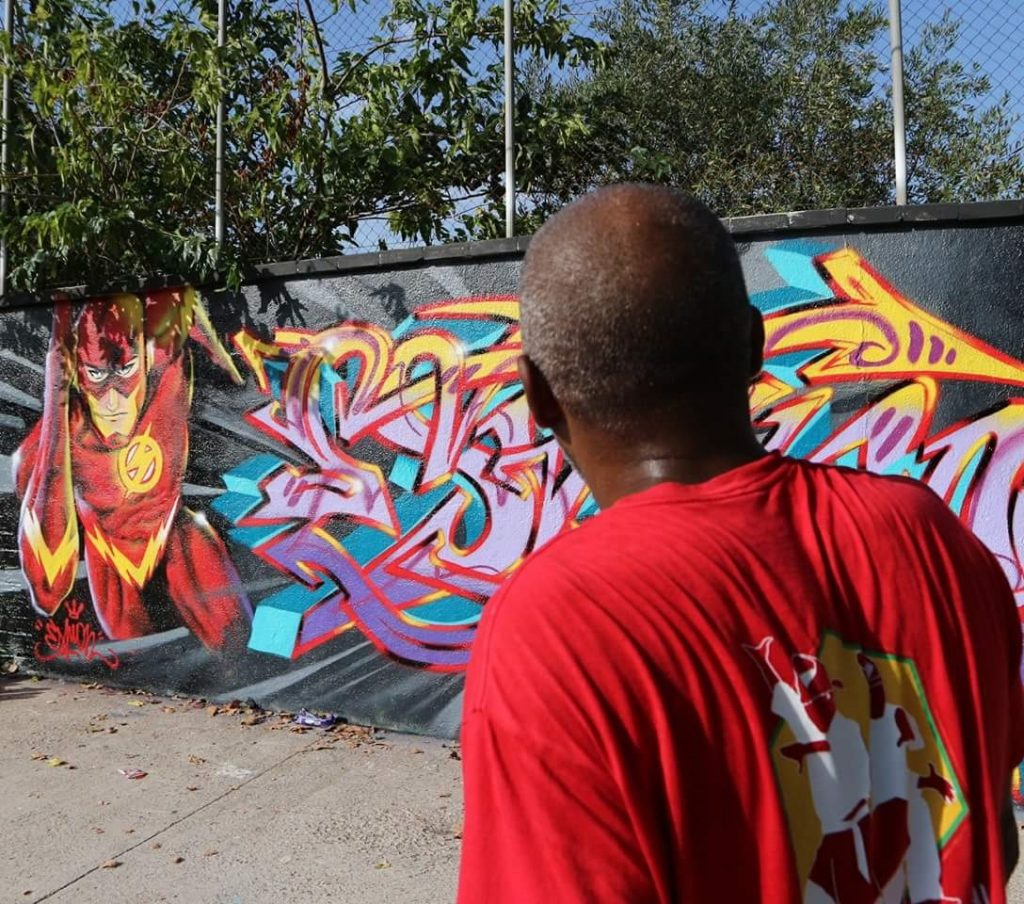 Espion arte urbano Poblenou, Barcelona