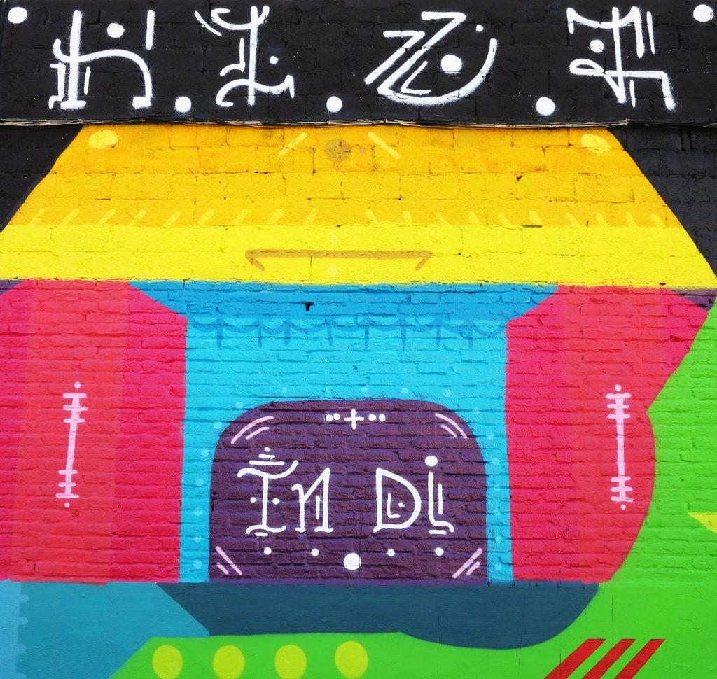 H101 arte urbano en Badalona