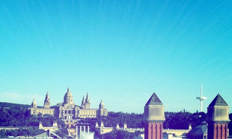 Montjuïc Barcelona fotografía digerible