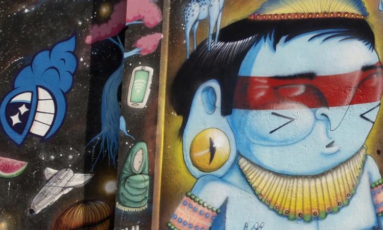 Craneo y Pez Arte Urbano digerible