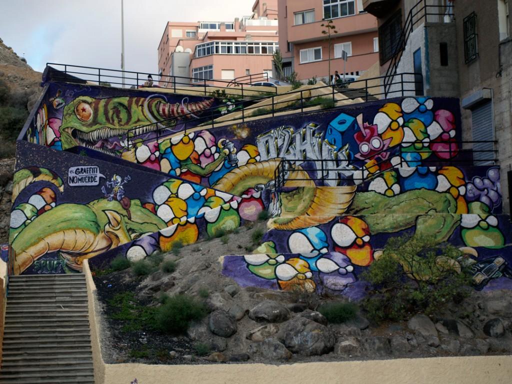 Arte urbano BLAS y El Chico Iwana - Digerible