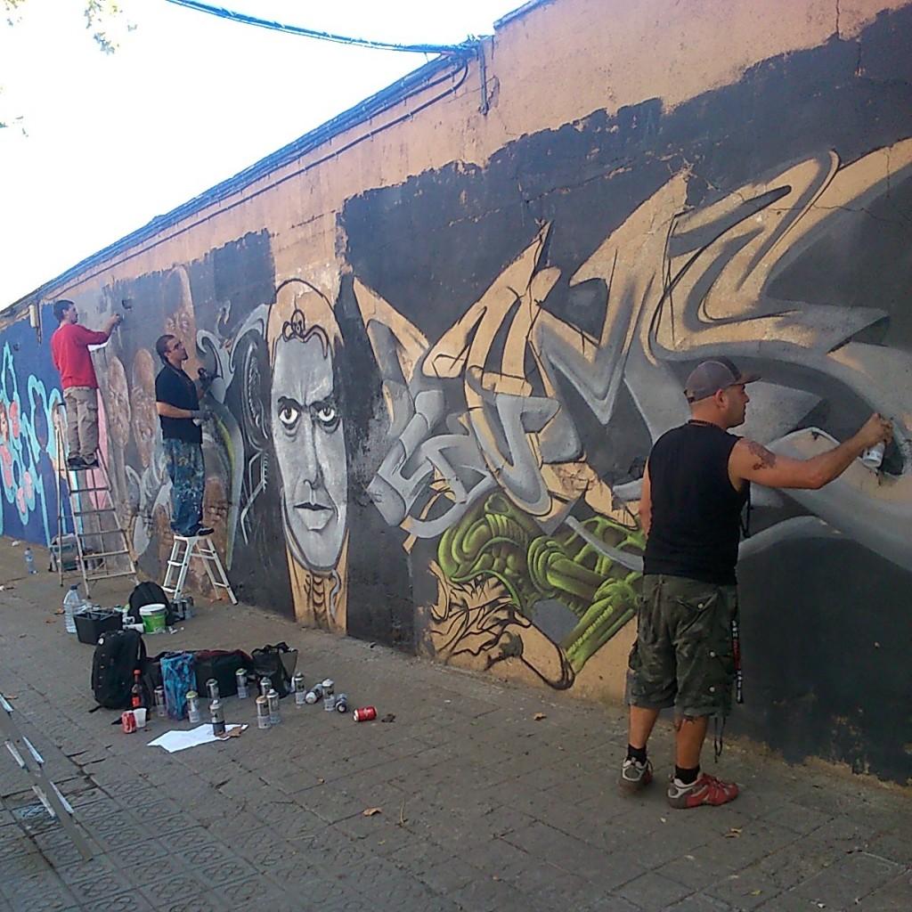 Graffiti jam in H.R. Giger ✙ Memoriam