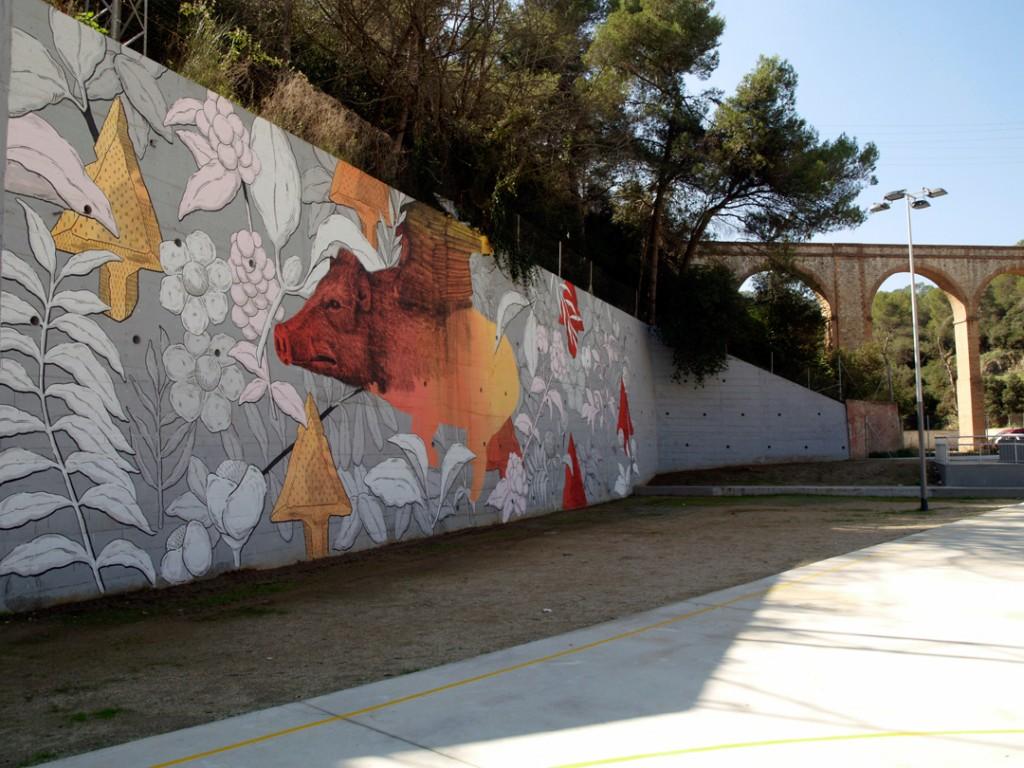 Pastel y Alexis Diaz arte urbano digerible