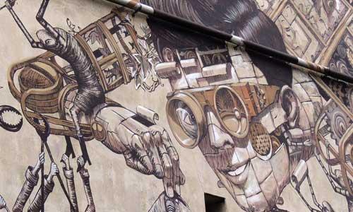 Phlegm & Pixel Pancho - Dunedin Festival de arte urbano 2014 digerible
