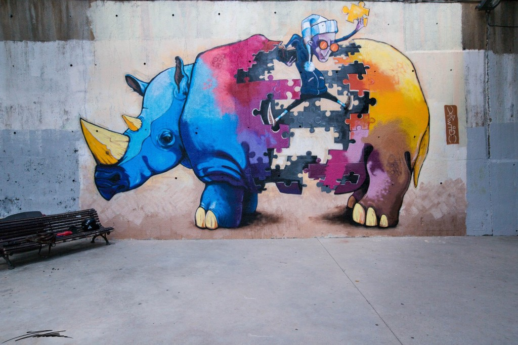Yrwig arte urbano Barcelona digerible
