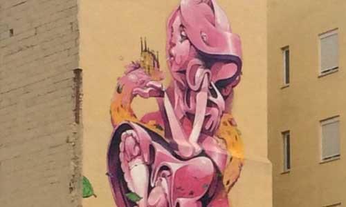 Isaac Mahow Arte urbano Zaragoza Digerible