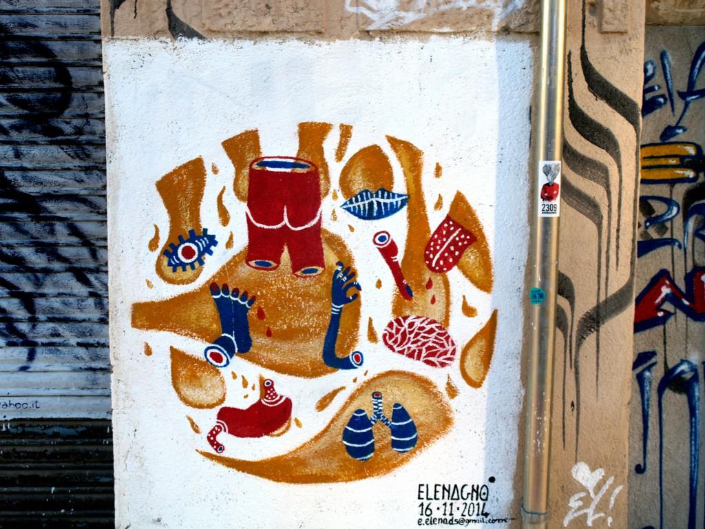 Arte Urbano, Elenagno, Barcelona, Digerible