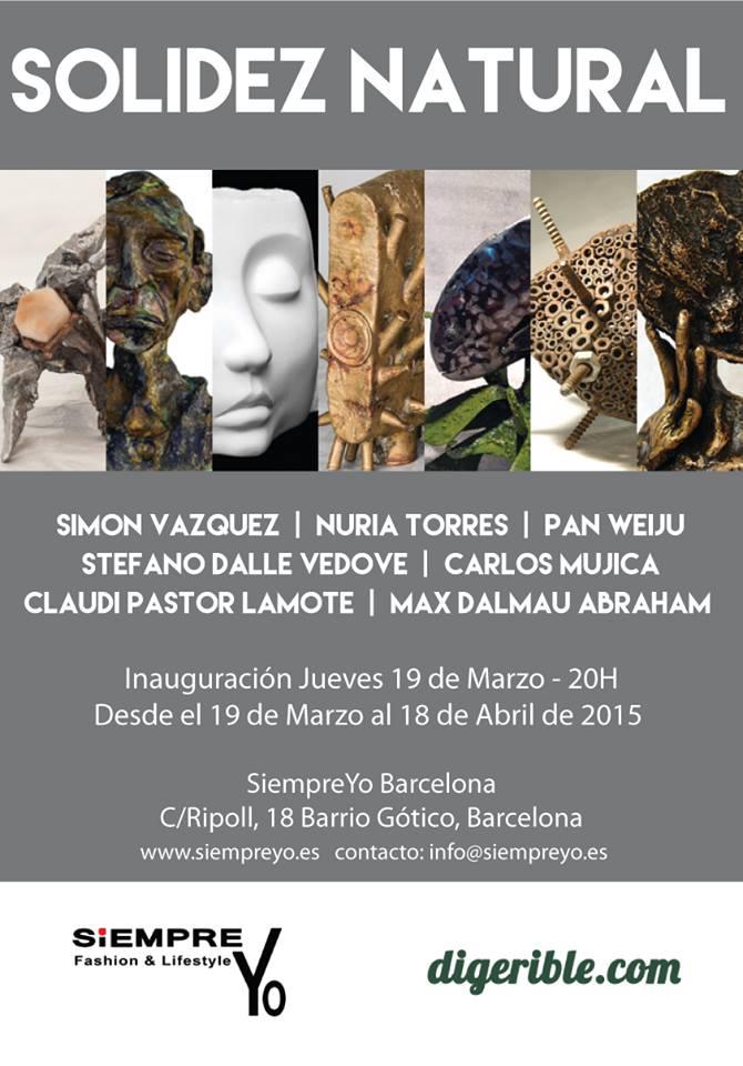 Solidez Natural Exposición Galería SiempreYO Barcelona, digerible
