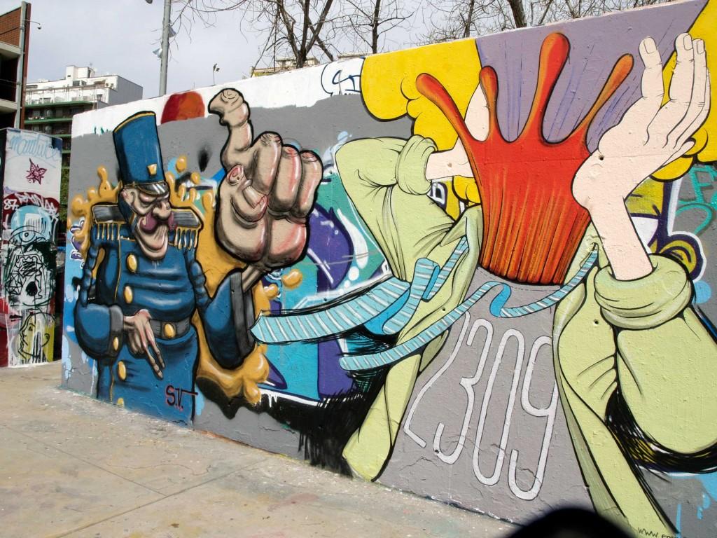 Simón Vázquez - Enric Font, Arte urbano, digerible