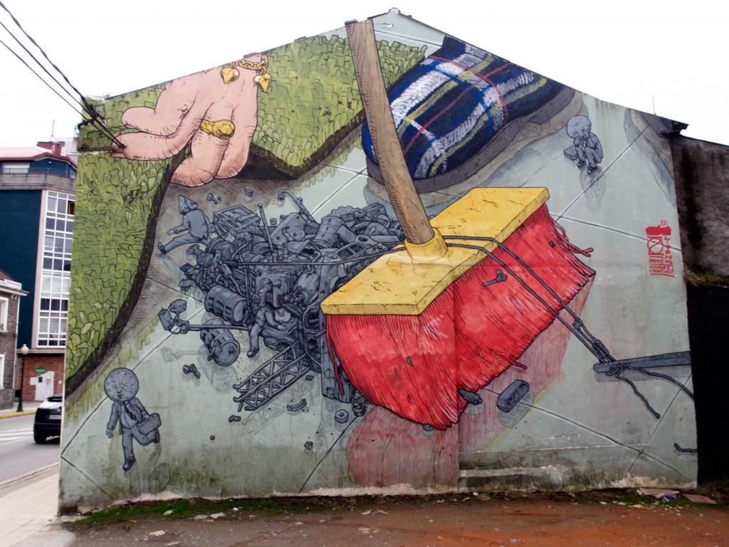 Liqen, Arte urbano, Galicia , digerible