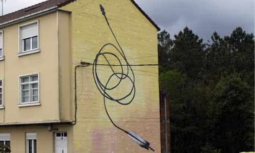 Sekone, Arte urbano, Galicia , digerible