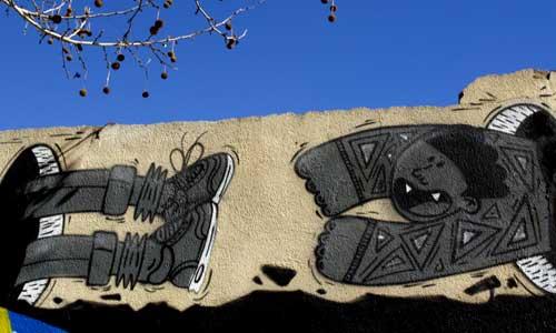 arte urbano, Barcelona , Pobelnou, digerible