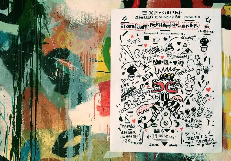 El Xupet Negre, Ener y Pezkhamino Arte urbano