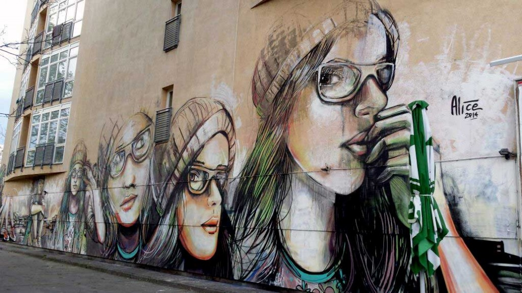 Arte urbano Berlin, digerible