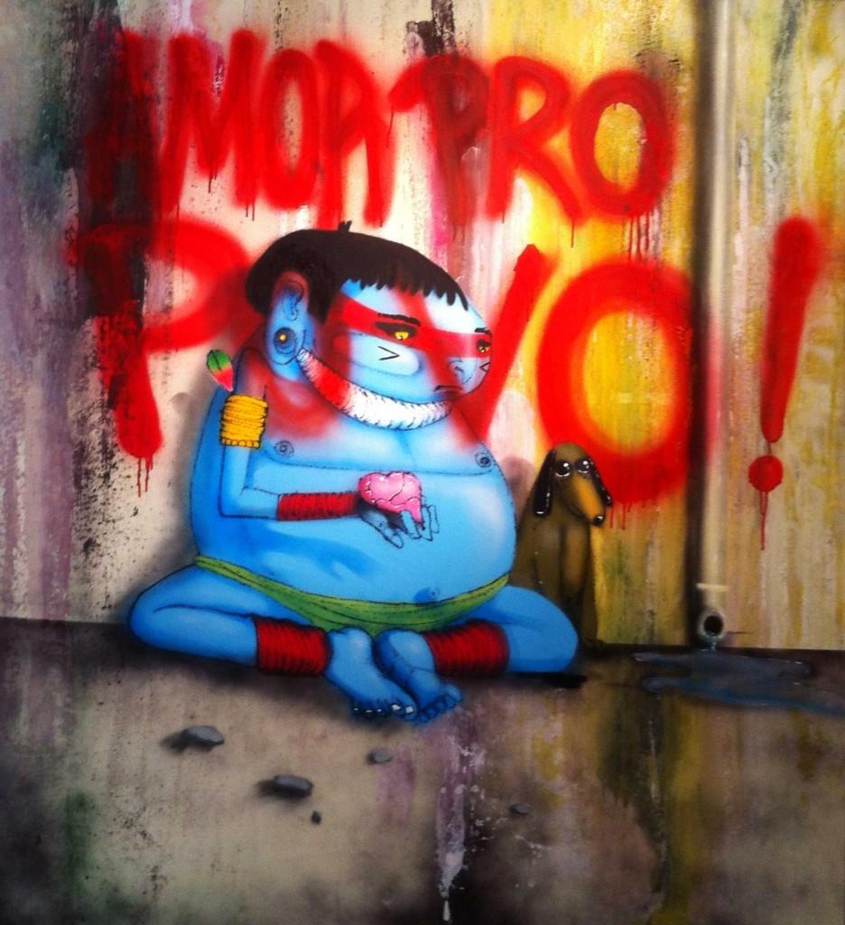Craneo, Arte Urbano digerible Barcelona