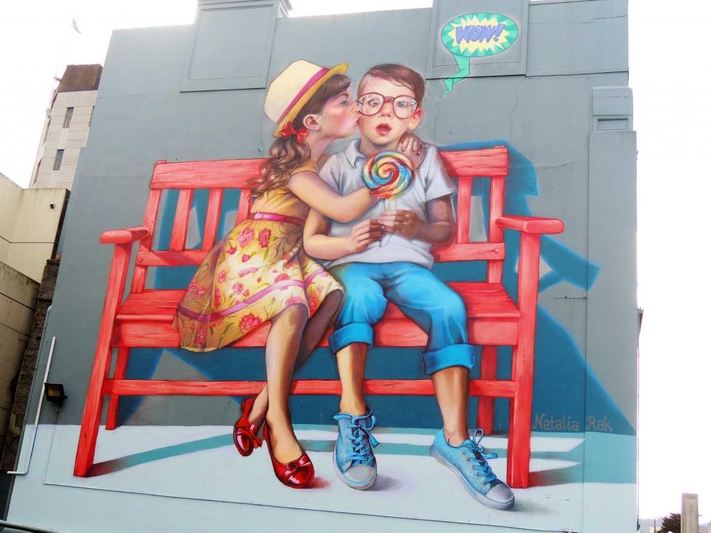 Natalia Rak, arte urbano,  Nueva Zelanda, digerible