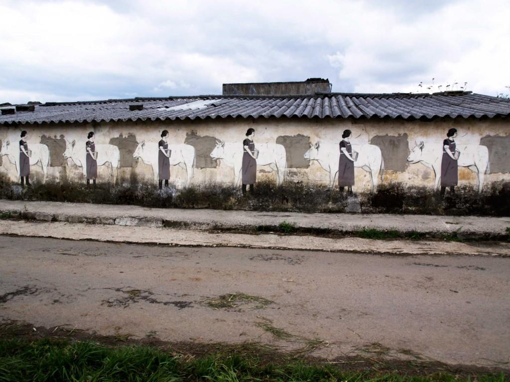 Escif, arte urbano Galicia, España, digerible