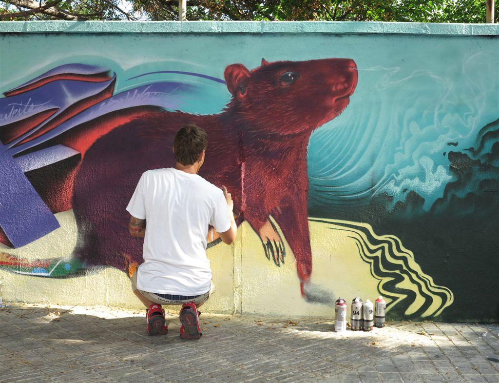 Arte urbano barcelona, digerible,Toni Garcia Camps