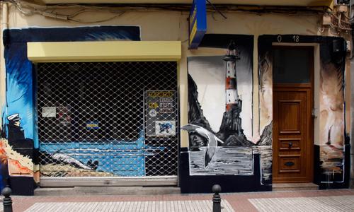 arte urbano en A Coruña, Galicia, Digerible