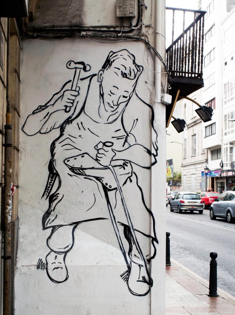 Arte urbano La Coruña, Galicia,  Digerible