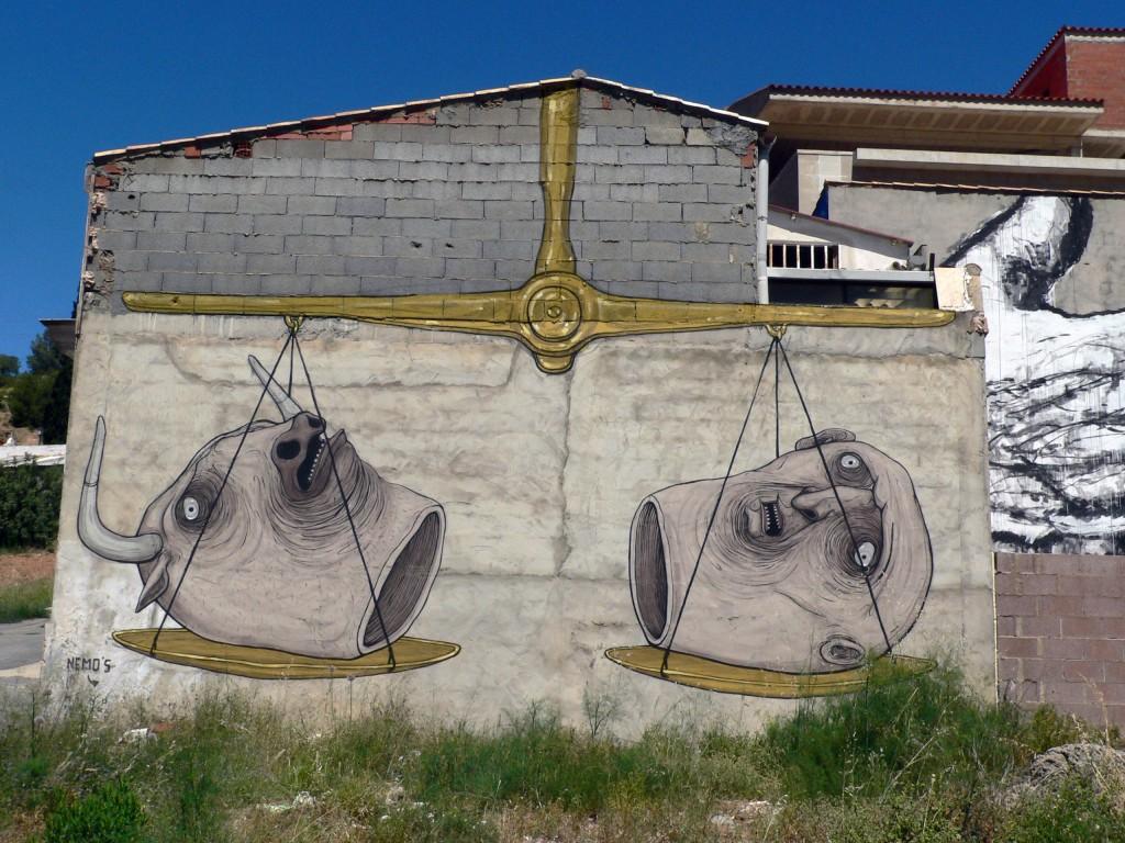 Nemo's, arte urbano Fanzara, Valencia, Digerible