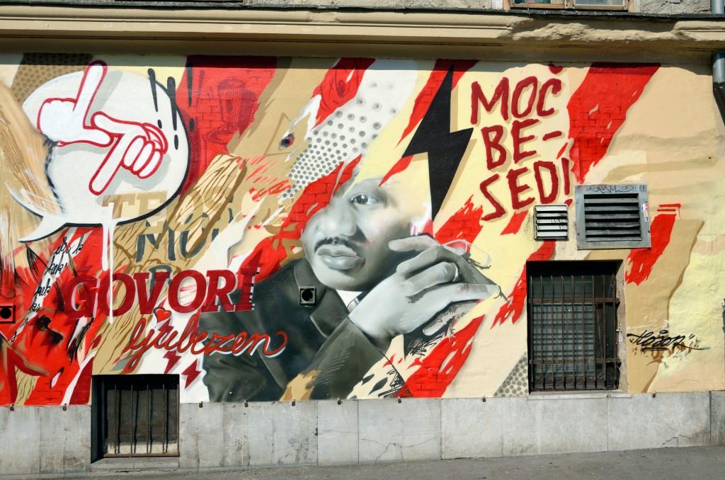 Arte urbano en Liubliana Eslovenia