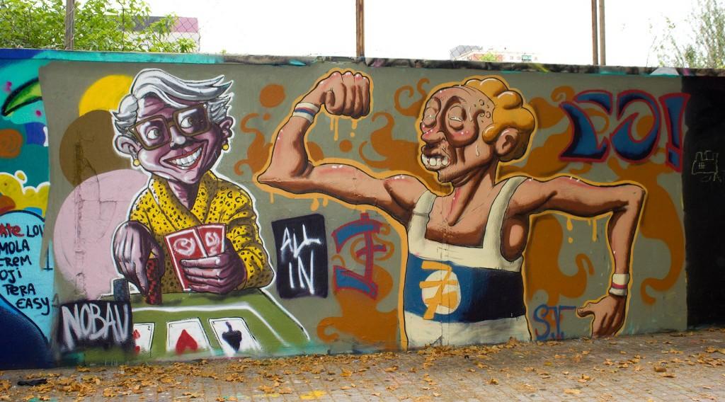Simón Vázquez Arte urbano Barcelona, digerible
