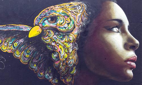 Caro Paz y Cayn Sanchez, arte urbano en Barcelona